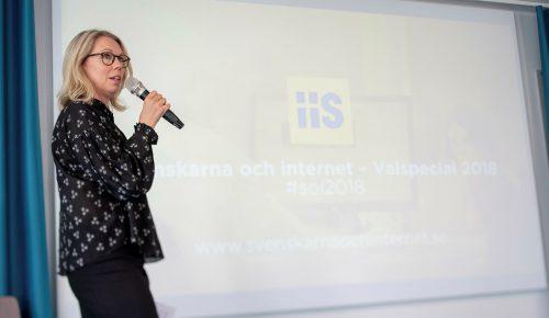 Jannike Tillå presenterar Svenskarna och internet valspecial 2018.