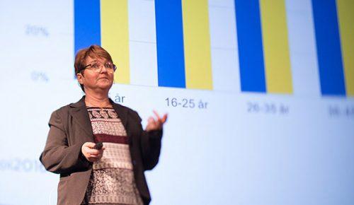 Pamela Davidsson presenterar rapporten Svenskarna och internet 2017.